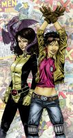 Shadowcat and Jubilee by acjdg3