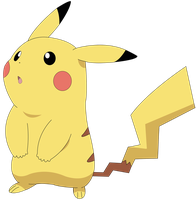 Pikachu Vector by Ruki-Makino