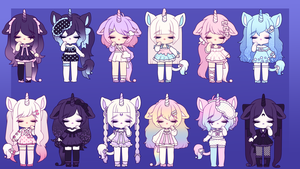 Unicorn Adopts: CLOSED by MyuHime