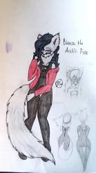 Bianca the Arctic Fox (pic 2) by DragonFoxGaming33