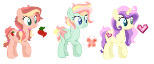 Mane 6 Next Gen Auction [CLOSED] by gr0ttieadopts