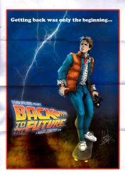 Back to the future day Marty Mc Fly Vintage poster by alejanfigueroa