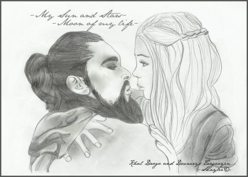 Khal Drogo and Daenerys by Skayler