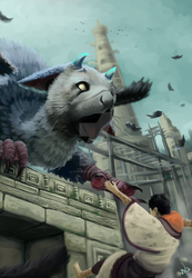 I will catch you (The last guardian) by VigourDragon