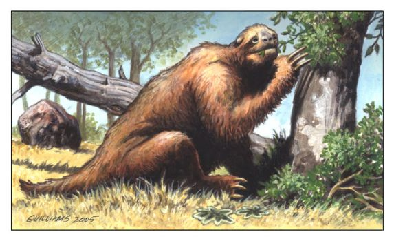 Giant Sloth by ChrisQuilliams