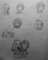 Undertale - Chara and Asriel Comic Sketch by PKMNTrainerSpriterC