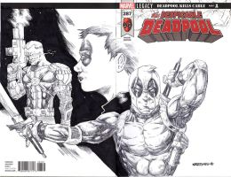 DEADPOOL sketch cover by drawhard
