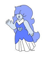 Chibi Gem Custom- Blue Quartz by popinat