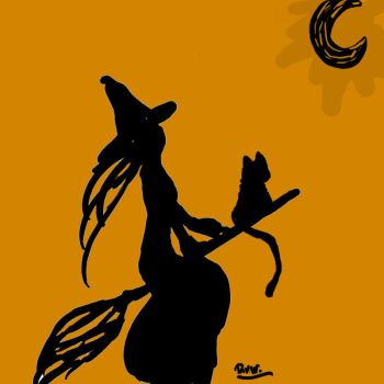 Silhouette Witch by Ashriel-kid-of-Voldy