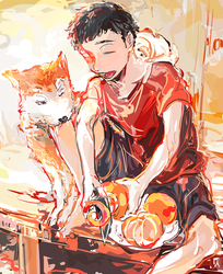 BOY and DOG by 6sca