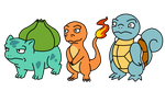 Kanto Starters by Ep1cShad0w