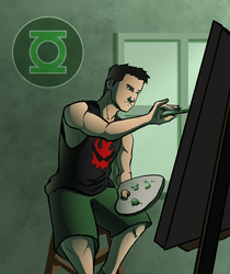 Kyle Rayner - Painting by micahdraws