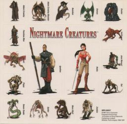 Nightmare Creatures Stickers by Kujiforo
