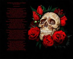 Skull and Red Roses wallpaper by SerenityNme