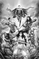 JUSTICE LEAGUE by johnbecaro