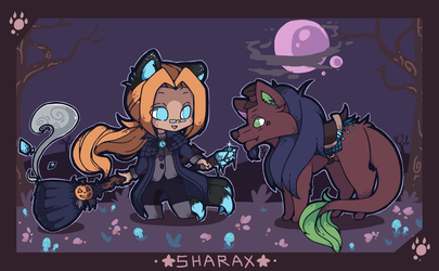 [Undertronic] Halloween Chibi Chronos + Cider by SharaXOfficial