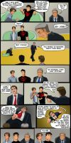 Hero School with Jon Stewart and Stephan Colbert by lostatsea101