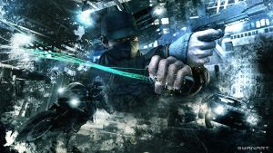 Watch_Dogs - Aiden Action Wallpaper by TheSyanArt