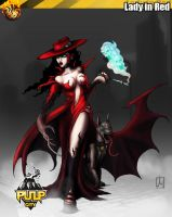 the Lady in Red by melvindevoor
