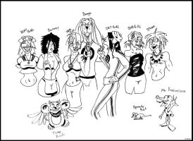 X-Chick: Tank Girl and Crew by ComicArtistsUnite