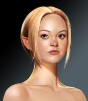 Elf bust by mannequin-atelier