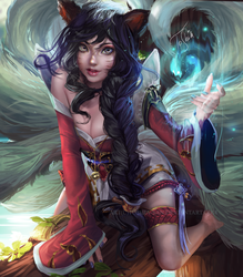 Ahri | League of Legends by Toshia-san