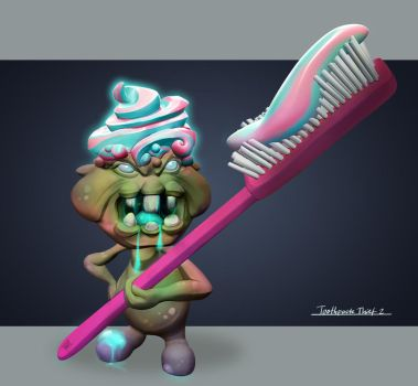 The Toothpaste thief by svetlozara-doksimova