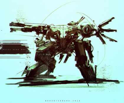 Speedpaint Metal Gear Rex FanArt Custom by benedickbana