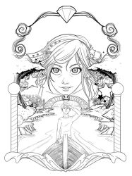 Lucy in the Sky - Lineart poster by tintanaveia
