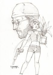 The Professional and the Girl by DaggerPoint