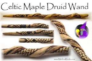 Celtic Maple Druid Wand by MerlinOfManitou