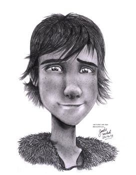 How To Train Your Dragon- Hiccup Pencil Drawing by Jade-Viper