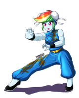 Commission: Rainbow Kung Fu by DANMAKUMAN