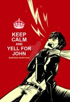 BBC-SH: Keep Calm + Yell for J by Cardboardram