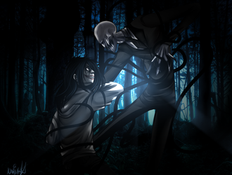 Slender vs Jeff by Kamik91