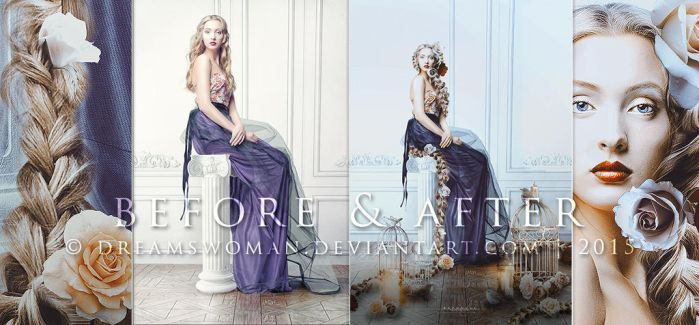 Before and After - Rapunzel by dreamswoman