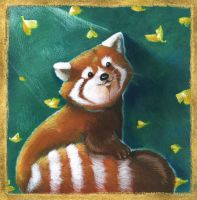 Little Red Panda by SophieLeta