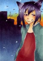 ACEO 99 Like a stray Cat by ChemicalIceTea