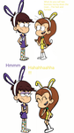 Luna loud and Luan loud dressed as bunnies by LovefromJackie