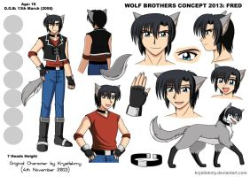 Wolf Brothers Concept 2013 - Fred by krystlekmy