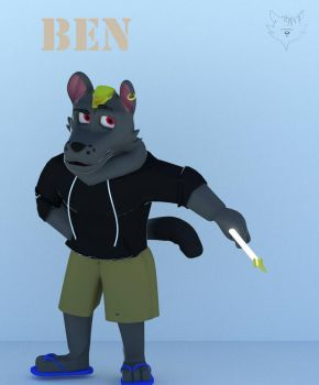 Ben the dog (smashing renders version) by TheFnafLich23