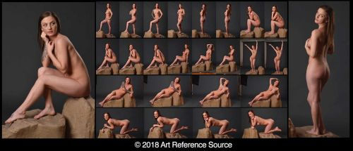 Stock:  New Model Alicia 24 full length nudes by ArtReferenceSource