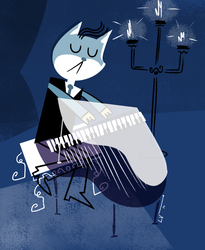 Piano Cat by LuchoVolke