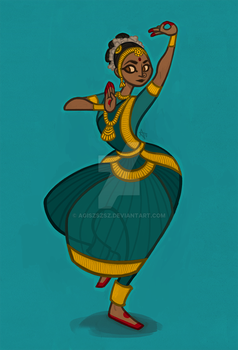 indian dancer by agiszszsz