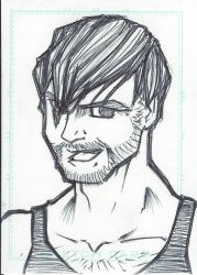 Sketch Card - Dean Ambrose by emceelokey