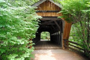 Waupaca: Covered Bridge I by charliemarlowe