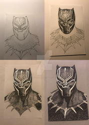 WIP - Black Panther by LuciieSpirit