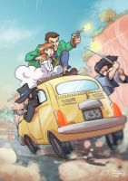 Lupin III-The castle of Cagliostro-Fan art by ElisaFerrari