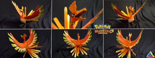 Pokemon Gold Papercraft: Ho-Oh by SuperRetroBro