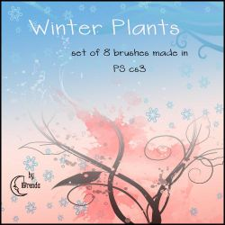 Winter Plants Brushes by Coby17